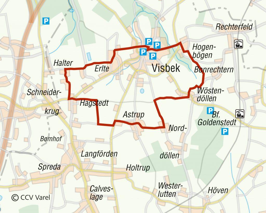 Routenverlauf der Tour: Dörfer Erleben