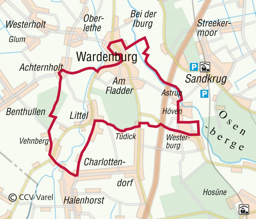 Routenverlauf der DorfErleben-Tour