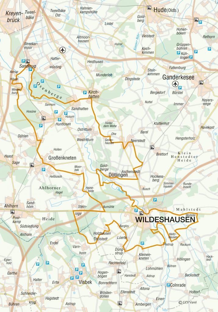 Routenverlauf der SteinZeitspuren-Tour