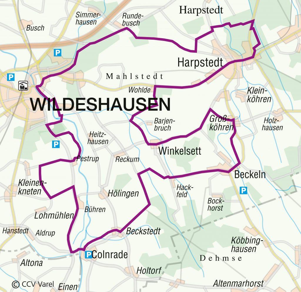 Routenverlauf der HeimatSchätze-Tour