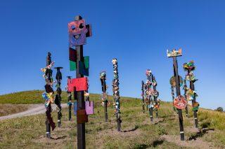 Skulpturen auf dem Utkiek; Foto: AWG